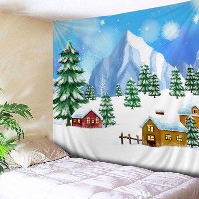Wall Hanging Art Christmas Trees Houses Print Tapestry