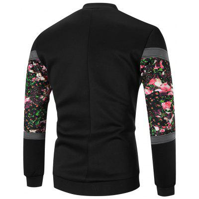 Zip Front Sleeve Floral Printed JacketMens Jackets &amp; Coats<br>Zip Front Sleeve Floral Printed Jacket<br><br>Closure Type: Zipper<br>Clothes Type: Jackets<br>Collar: Stand Collar<br>Crafts: Printing<br>Material: Cotton, Polyester<br>Occasion: Going Out, Daily Use, Casual<br>Package Contents: 1 x Jacket<br>Season: Spring, Winter, Fall<br>Shirt Length: Regular<br>Sleeve Length: Long Sleeves<br>Style: Streetwear, Fashion, Casual<br>Weight: 0.6600kg