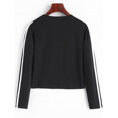 Side Stripe Long Sleeve Crop TopTees<br>Side Stripe Long Sleeve Crop Top<br><br>Collar: Round Neck<br>Elasticity: Elastic<br>Material: Cotton, Polyester<br>Package Contents: 1 x Crop Top<br>Pattern Type: Striped<br>Seasons: Autumn<br>Shirt Length: Crop Top<br>Sleeve Length: Full<br>Style: Casual<br>Weight: 0.1900kg
