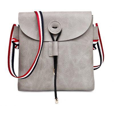 Striped Contrasting Color Faux Leather Crossbody Bag