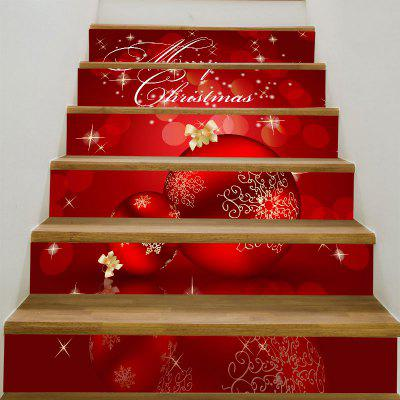 Buy Christmas Ornaments Balls Patterned Stair Stickers, DEEP RED, Home & Garden, Home Decors, Wall Art, Wall Stickers for $12.84 in GearBest store