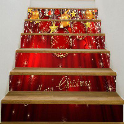 Buy Christmas Ornaments Balls Pattern Stair Stickers, DEEP RED, Home & Garden, Home Decors, Wall Art, Wall Stickers for $17.76 in GearBest store
