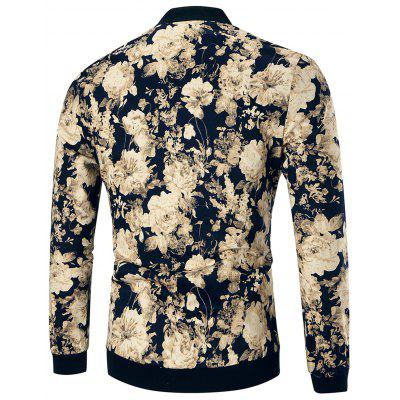 Slim Fit Flower Print JacketMens Jackets &amp; Coats<br>Slim Fit Flower Print Jacket<br><br>Closure Type: Zipper, Zipper<br>Clothes Type: Jackets<br>Collar: Stand Collar<br>Crafts: Printing, Printing<br>Material: Polyester, Cotton<br>Occasion: Beach, Daily Use, Beach, Casual , Going Out, Daily Use, Going Out, Casual<br>Package Contents: 1 x Jacket, 1 x Jacket<br>Season: Winter, Winter, Spring, Fall, Fall, Spring<br>Shirt Length: Regular, Regular<br>Sleeve Length: Long Sleeves, Long Sleeves<br>Style: Casual, Fashion, Streetwear, Vintage<br>Weight: 0.5800kg, 0.5800kg