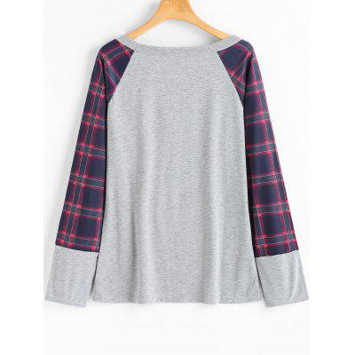 Checked Front Pocket Long Sleeve T-shirtTees<br>Checked Front Pocket Long Sleeve T-shirt<br><br>Collar: Scoop Neck<br>Elasticity: Elastic<br>Embellishment: Front Pocket<br>Material: Cotton, Polyester<br>Package Contents: 1 x Tee<br>Pattern Type: Plaid<br>Seasons: Autumn<br>Shirt Length: Regular<br>Sleeve Length: Full<br>Style: Casual<br>Weight: 0.2700kg