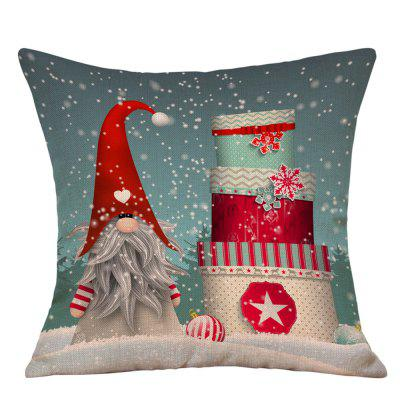Buy Snowy Christmas Gifts Print Linen Pillowcase, COLORMIX, Home & Garden, Home Textile, Bedding, Pillow for $4.36 in GearBest store