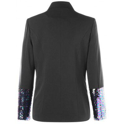 Sequined Hem One Button BlazerBlazers<br>Sequined Hem One Button Blazer<br><br>Collar: V-Neck<br>Material: Polyester<br>Package Contents: 1 x Blazer<br>Pattern Type: Solid<br>Season: Fall, Spring<br>Shirt Length: Regular<br>Sleeve Length: Full<br>Weight: 0.5500kg