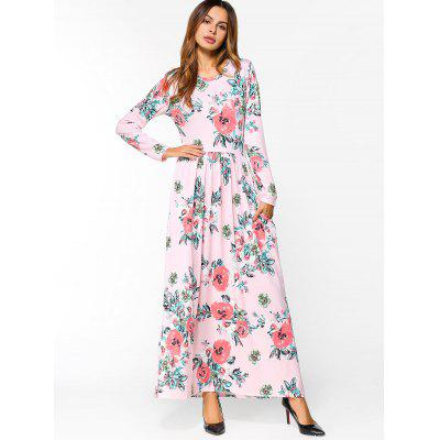 Flower Print Long Sleeve Maxi DressMaxi Dresses<br>Flower Print Long Sleeve Maxi Dress<br><br>Dresses Length: Ankle-Length<br>Material: Polyester<br>Neckline: Round Collar<br>Package Contents: 1 x Dress<br>Pattern Type: Floral<br>Season: Fall<br>Sleeve Length: Long Sleeves<br>Weight: 0.5000kg<br>With Belt: No