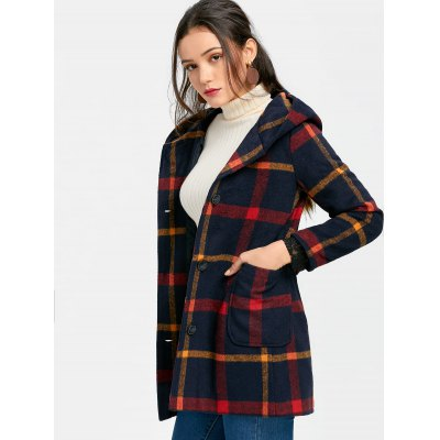 Button Up Plaid Pompom Hooded CoatJackets &amp; Coats<br>Button Up Plaid Pompom Hooded Coat<br><br>Collar: Hooded<br>Material: Polyester<br>Package Contents: 1 x Coat<br>Pattern Type: Plaid<br>Shirt Length: Long<br>Sleeve Length: Full<br>Style: Casual<br>Type: Wide-waisted<br>Weight: 1.1100kg