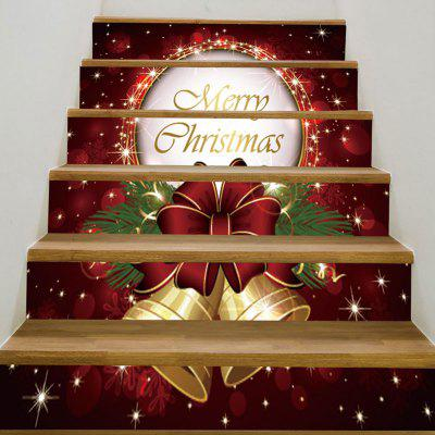Buy Christmas Bells Pattern 6Pcs Stair Stickers, DEEP RED, Home & Garden, Home Decors, Wall Art, Wall Stickers for $12.42 in GearBest store