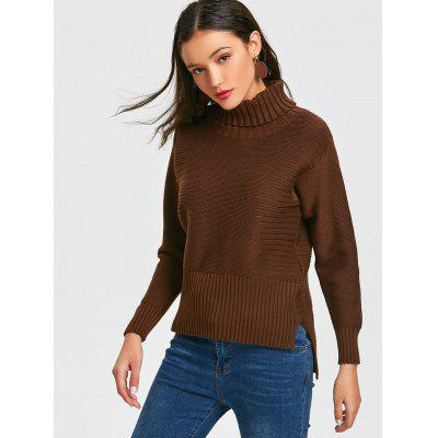 High Low Turtleneck Pullover SweaterSweaters &amp; Cardigans<br>High Low Turtleneck Pullover Sweater<br><br>Collar: Turtleneck<br>Material: Acrylic, Cotton, Polyester<br>Package Contents: 1 x Sweater<br>Pattern Type: Solid<br>Sleeve Length: Full<br>Style: Fashion<br>Type: Pullovers<br>Weight: 0.6100kg