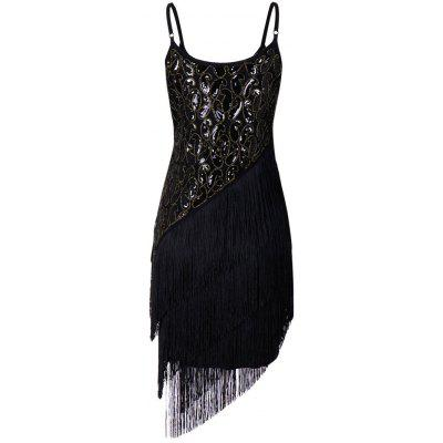 Fringe Sequins Embroidery Party Vintage DressWomens Dresses<br>Fringe Sequins Embroidery Party Vintage Dress<br><br>Dresses Length: Mini<br>Embellishment: Sequins<br>Material: Polyester, Spandex<br>Neckline: Spaghetti Strap<br>Package Contents: 1 x Dress<br>Pattern Type: Others<br>Season: Fall, Spring<br>Silhouette: Sheath<br>Sleeve Length: Sleeveless<br>Style: Vintage<br>Weight: 0.4700kg<br>With Belt: No