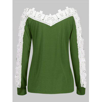 Hollow Out Crochet Sleeve V-neck BlouseBlouses<br>Hollow Out Crochet Sleeve V-neck Blouse<br><br>Collar: V-Neck<br>Material: Polyester<br>Package Contents: 1 x Blouse<br>Pattern Type: Others<br>Season: Fall, Spring<br>Shirt Length: Regular<br>Sleeve Length: Full<br>Style: Fashion<br>Weight: 0.2700kg