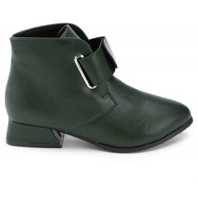 Buy Faux Leather Hook and Loop Ankle Boots, GREEN, 39, Bags & Shoes, Women's Shoes, Women's Boots for $32.17 in GearBest store