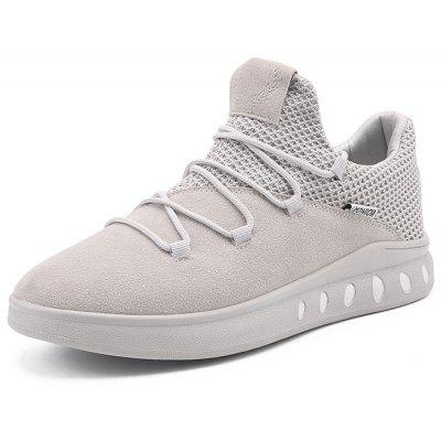 Mesh and Suede Panel Casual Athletic ShoesAthletic Shoes<br>Mesh and Suede Panel Casual Athletic Shoes<br><br>Closure Type: Lace-Up<br>Embellishment: None<br>Gender: For Men<br>Occasion: Casual<br>Outsole Material: Rubber<br>Package Contents: 1 x Athletic Shoes (pair)<br>Pattern Type: Solid<br>Season: Winter, Spring/Fall<br>Shoe Width: Medium(B/M)<br>Toe Shape: Round Toe<br>Toe Style: Closed Toe<br>Upper Material: Synthetic<br>Weight: 1.1400kg