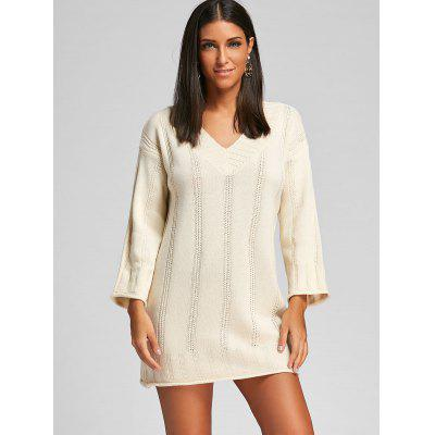 V Neck Mini Knit Sweater DressSweater Dresses<br>V Neck Mini Knit Sweater Dress<br><br>Dresses Length: Mini<br>Material: Acrylic<br>Neckline: V-Neck<br>Occasion: Causal<br>Package Contents: 1 x Dress<br>Pattern Type: Solid<br>Season: Fall, Spring<br>Silhouette: Straight<br>Sleeve Length: Long Sleeves<br>Style: Casual<br>Weight: 0.5800kg<br>With Belt: No