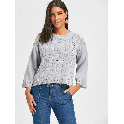 Crew Neck Hollow Out Cable Knit SweaterSweaters &amp; Cardigans<br>Crew Neck Hollow Out Cable Knit Sweater<br><br>Collar: Crew Neck<br>Material: Acrylic<br>Package Contents: 1 x Sweater<br>Pattern Type: Solid<br>Season: Fall, Spring<br>Sleeve Length: Full<br>Style: Fashion<br>Type: Pullovers<br>Weight: 0.4000kg