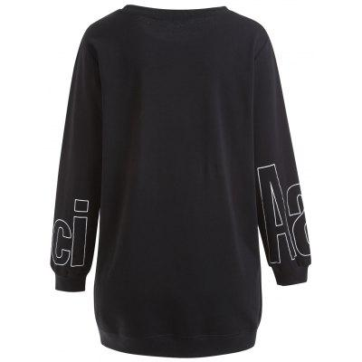 Plus Size Letter Graphic Side Zipper Tunic SweatshirtPlus Size Tops<br>Plus Size Letter Graphic Side Zipper Tunic Sweatshirt<br><br>Embellishment: Slit<br>Material: Cotton Blend, Polyester<br>Package Contents: 1 x Sweatshirt<br>Pattern Style: Letter<br>Season: Fall, Winter<br>Shirt Length: Long<br>Sleeve Length: Full<br>Style: Fashion<br>Weight: 0.4200kg