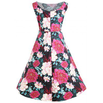 Plus Size Sleeveless Floral Midi Pin Up DressPlus Size Dresses<br>Plus Size Sleeveless Floral Midi Pin Up Dress<br><br>Dresses Length: Mid-Calf<br>Embellishment: Vintage<br>Material: Cotton Blend, Polyester<br>Neckline: Round Collar<br>Package Contents: 1 x Dress<br>Pattern Type: Floral<br>Season: Fall, Winter<br>Silhouette: Ball Gown<br>Sleeve Length: Sleeveless<br>Style: Vintage<br>Weight: 0.4200kg<br>With Belt: No