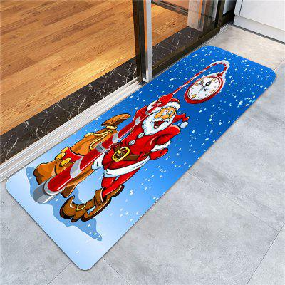 Santa Claus Clock Pattern Skidproof RugCarpets &amp; Rugs<br>Santa Claus Clock Pattern Skidproof Rug<br><br>Materials: Coral FLeece<br>Package Contents: 1 x Rug<br>Pattern: Santa Claus<br>Products Type: Bath rugs<br>Shape: Rectangle<br>Style: Festival