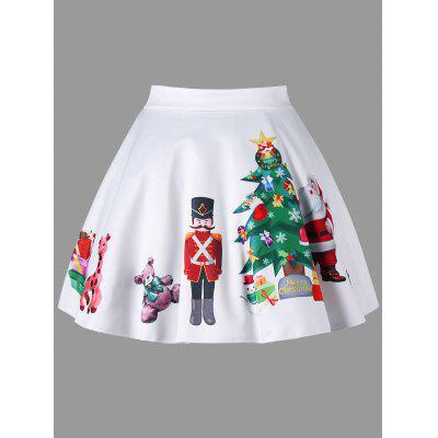Plus Size Christmas Print Flared Mini SkirtPlus Size<br>Plus Size Christmas Print Flared Mini Skirt<br><br>Length: Mini<br>Material: Polyester, Spandex<br>Package Contents: 1 x Skirt<br>Pattern Type: Print<br>Season: Fall, Spring<br>Silhouette: A-Line<br>Weight: 0.1700kg