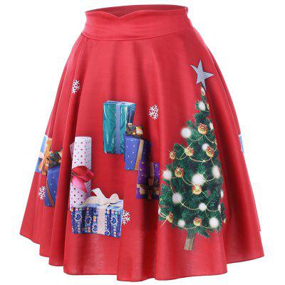 Christmas Plus Size Tree and Gift Print Midi SkirtPlus Size<br>Christmas Plus Size Tree and Gift Print Midi Skirt<br><br>Length: Mid-Calf<br>Material: Polyester, Spandex<br>Package Contents: 1 x Skirt<br>Pattern Type: Print<br>Season: Fall, Spring<br>Silhouette: A-Line<br>Weight: 0.3000kg