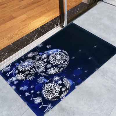 Buy Christmas Snowflake Balls Print Skidproof Coral Fleece Bath Mat, DEEP BLUE, Home & Garden, Home Textile, Carpets & Rugs for $8.98 in GearBest store