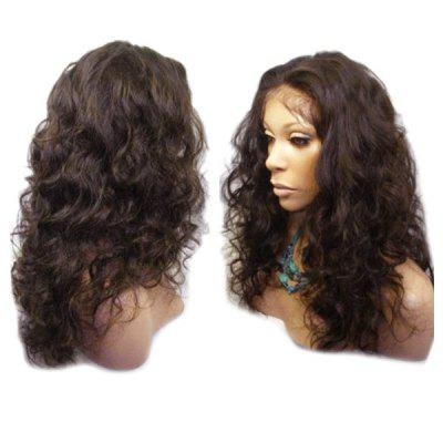 Buy DEEP BROWN Long Center Parting Shaggy Wavy Lace Front Synthetic Wig for $59.31 in GearBest store