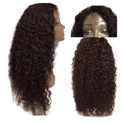 Buy DEEP BROWN Long Free Part Shaggy Kinky Curly Lace Front Synthetic Wig for $60.95 in GearBest store