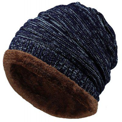 Outdoor Colormix Pattern Velvet Knitted Beanie 2016 new fashion winter knitted beanies unisex warm thicken hats for women men wool ski slouchy baggy caps masks touca gorro