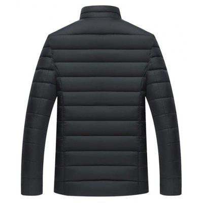 Full Zip Stand Collar Padded JacketMens Jackets &amp; Coats<br>Full Zip Stand Collar Padded Jacket<br><br>Closure Type: Zipper<br>Clothes Type: Padded<br>Collar: Stand Collar<br>Material: Polyester<br>Occasion: Going Out, Casual<br>Package Contents: 1 x Jacket<br>Season: Winter<br>Shirt Length: Regular<br>Sleeve Length: Long Sleeves<br>Style: Casual<br>Weight: 0.8500kg