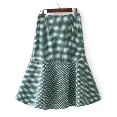 Plaid High Low Ruffle SkirtSkirts<br>Plaid High Low Ruffle Skirt<br><br>Length: Mid-Calf<br>Material: Polyester<br>Package Contents: 1 x Skirt<br>Pattern Type: Plaid<br>Season: Fall, Spring<br>Silhouette: Asymmetrical<br>Weight: 0.3000kg<br>With Belt: No