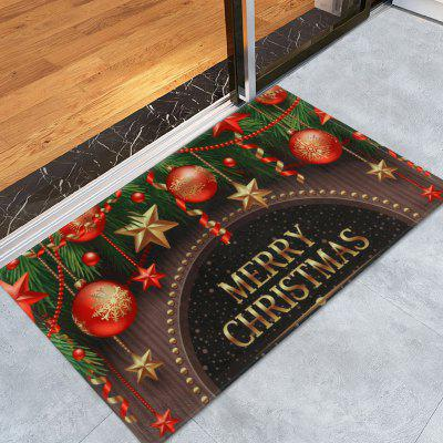 Buy Christmas Decorations Print Antiskid Coral Fleece Bath Rug, COLORMIX, Home & Garden, Home Textile, Tapestries for $7.50 in GearBest store