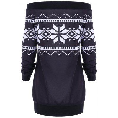 Plus Size Skew Neck Snowflake Geometric Pullover SweatshirtPlus Size Tops<br>Plus Size Skew Neck Snowflake Geometric Pullover Sweatshirt<br><br>Embellishment: Button<br>Material: Polyester, Spandex<br>Package Contents: 1 x Sweatshirt<br>Pattern Style: Geometric<br>Season: Winter, Spring, Fall<br>Shirt Length: Long<br>Sleeve Length: Full<br>Style: Fashion<br>Weight: 0.5000kg