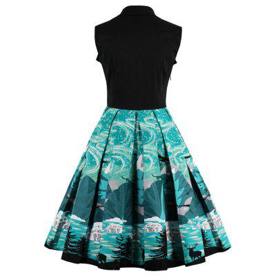 Vintage Elk Forest Print Bowknot Christmas Skater DressWomens Dresses<br>Vintage Elk Forest Print Bowknot Christmas Skater Dress<br><br>Dress Type: Fit and Flare Dress,Skater Dress,Swing Dress<br>Dresses Length: Mini<br>Material: Cotton, Polyester<br>Neckline: Sweetheart Neck<br>Package Contents: 1 x Dress<br>Pattern Type: Print<br>Season: Spring, Fall<br>Silhouette: A-Line<br>Sleeve Length: Sleeveless<br>Style: Vintage<br>Weight: 0.4000kg<br>With Belt: No