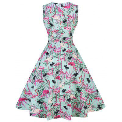 Vintage Crane Leaves Print Pin Up Skater DressWomens Dresses<br>Vintage Crane Leaves Print Pin Up Skater Dress<br><br>Dress Type: Fit and Flare Dress,Skater Dress<br>Dresses Length: Knee-Length<br>Material: Cotton, Polyester<br>Neckline: Sweetheart Neck<br>Package Contents: 1 x Dress<br>Pattern Type: Animal, Leaves<br>Season: Spring, Fall<br>Silhouette: A-Line<br>Sleeve Length: Sleeveless<br>Style: Vintage<br>Weight: 0.3500kg<br>With Belt: No