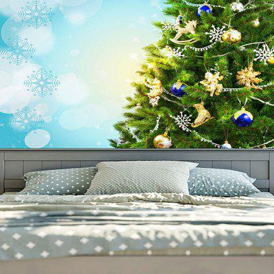Christmas Tree and Snowflake Print Wall Decor TapestryTapestries<br>Christmas Tree and Snowflake Print Wall Decor Tapestry<br><br>Feature: Removable, Washable<br>Material: Cotton, Polyester<br>Package Contents: 1 x Tapestry<br>Shape/Pattern: Ball,Tree<br>Style: Festival<br>Theme: Christmas<br>Weight: 0.2000kg