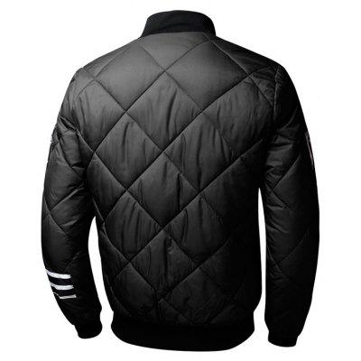 Zip Up Graphic Quilted Bomber JacketMens Jackets &amp; Coats<br>Zip Up Graphic Quilted Bomber Jacket<br><br>Closure Type: Zipper<br>Clothes Type: Jackets<br>Collar: Stand Collar<br>Material: Polyester<br>Occasion: Casual<br>Package Contents: 1 x Jacket<br>Season: Winter<br>Shirt Length: Regular<br>Sleeve Length: Long Sleeves<br>Style: Casual<br>Weight: 0.8200kg
