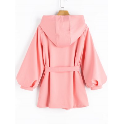 Puff Sleeve Hooded Belted CoatJackets &amp; Coats<br>Puff Sleeve Hooded Belted Coat<br><br>Collar: Hooded<br>Material: Polyester<br>Package Contents: 1 x Coat<br>Pattern Type: Solid<br>Shirt Length: Regular<br>Sleeve Length: Full<br>Sleeve Type: Lantern Sleeve<br>Style: Fashion<br>Type: Slim<br>Weight: 0.6300kg