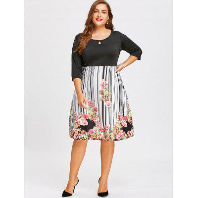 Plus Size Empire Waist Floral Midi DressPlus Size Dresses<br>Plus Size Empire Waist Floral Midi Dress<br><br>Dresses Length: Mid-Calf<br>Material: Polyester<br>Neckline: Scoop Neck<br>Package Contents: 1 x Dress<br>Pattern Type: Striped, Print, Floral<br>Season: Fall, Winter<br>Silhouette: A-Line<br>Sleeve Length: 3/4 Length Sleeves<br>Style: Casual<br>Waist: Empire<br>Weight: 0.3100kg<br>With Belt: No