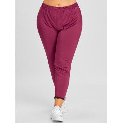 Plus Size Lace Trim LeggingsPlus Size<br>Plus Size Lace Trim Leggings<br><br>Closure Type: Elastic Waist<br>Embellishment: Lace<br>Fit Type: Skinny<br>Length: Capri<br>Material: Cotton, Polyester<br>Package Contents: 1 x Leggings<br>Pant Style: Pencil Pants<br>Pattern Type: Solid<br>Style: Casual<br>Waist Type: High<br>Weight: 0.2600kg