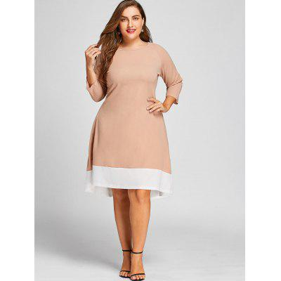 Plus Size Contrast High Low Long Sleeve DressPlus Size Dresses<br>Plus Size Contrast High Low Long Sleeve Dress<br><br>Dresses Length: Mid-Calf<br>Material: Cotton Blend, Polyester<br>Neckline: Round Collar<br>Package Contents: 1 x Dress<br>Pattern Type: Others<br>Season: Winter, Fall<br>Silhouette: A-Line<br>Sleeve Length: Long Sleeves<br>Style: Casual<br>Weight: 0.5200kg<br>With Belt: No