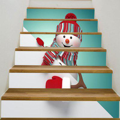 Buy Red Hat Christmas Snowman Pattern Decorative Stair Stickers, COLORFUL, Home & Garden, Home Decors, Wall Art, Wall Stickers for $12.95 in GearBest store