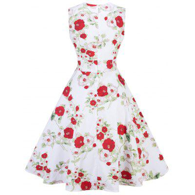 Vintage Floral Print Party Pin Up DressWomens Dresses<br>Vintage Floral Print Party Pin Up Dress<br><br>Dress Type: Fit and Flare Dress<br>Dresses Length: Knee-Length<br>Material: Cotton, Polyester<br>Neckline: Sweetheart Neck<br>Package Contents: 1 x Dress<br>Pattern Type: Floral<br>Season: Spring, Fall<br>Silhouette: A-Line<br>Sleeve Length: Sleeveless<br>Style: Vintage<br>Weight: 0.3500kg<br>With Belt: No