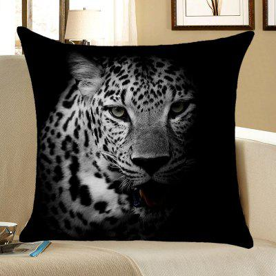 Dark Night Leopard Printed Throw Pillow Case