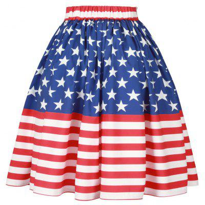 Patriotic American Flag A Line SkirtSkirts<br>Patriotic American Flag A Line Skirt<br><br>Length: Knee-Length<br>Material: Polyester<br>Package Contents: 1 x Skirt<br>Pattern Type: Star, Striped<br>Season: Spring, Fall<br>Silhouette: A-Line<br>Weight: 0.4000kg<br>With Belt: No