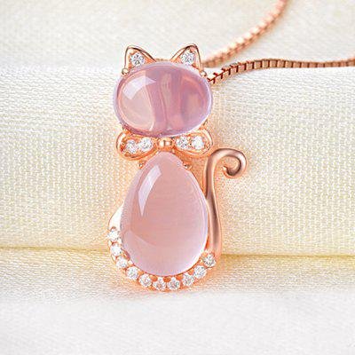 Rhinestone Faux Opal Kitten Collarbone NecklaceNecklaces &amp; Pendants<br>Rhinestone Faux Opal Kitten Collarbone Necklace<br><br>Gender: For Women<br>Item Type: Pendant Necklace<br>Material: Rhinestone<br>Package Contents: 1 x Necklace<br>Shape/Pattern: Animal<br>Style: Trendy<br>Weight: 0.0300kg