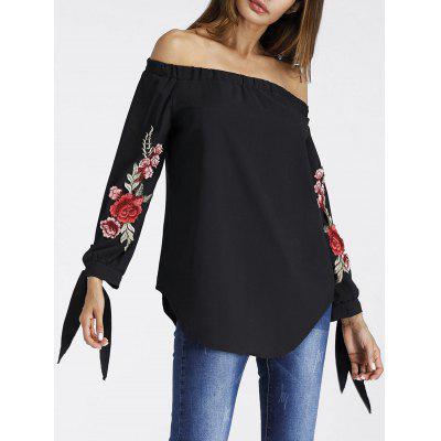Off The Shoulder Floral Embroidered Tunic BlouseBlouses<br>Off The Shoulder Floral Embroidered Tunic Blouse<br><br>Collar: Off The Shoulder<br>Embellishment: Embroidery<br>Material: Polyester<br>Package Contents: 1 x Blouse<br>Pattern Type: Floral<br>Season: Fall, Spring<br>Shirt Length: Regular<br>Sleeve Length: Full<br>Style: Fashion<br>Weight: 0.2500kg