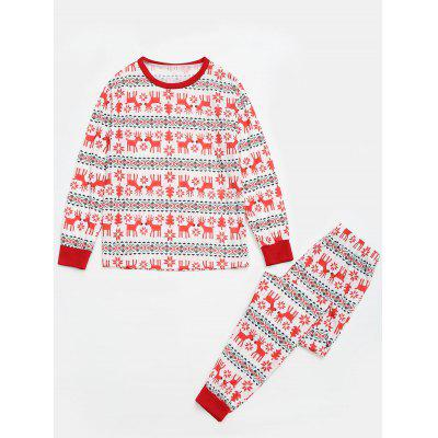 Reindeer Matching Family Christmas Pajama SetsPajamas<br>Reindeer Matching Family Christmas Pajama Sets<br><br>Material: Cotton, Polyester<br>Package Contents: 1 x Pajama<br>Pattern Type: Print<br>Weight: 0.6500kg