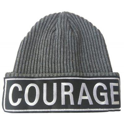 Buy GRAY COURAGE Pattern Decorated Crochet Knitted Beanie for $6.80 in GearBest store