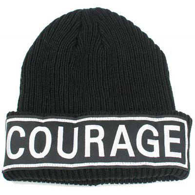 Buy BLACK COURAGE Pattern Decorated Crochet Knitted Beanie for $6.80 in GearBest store